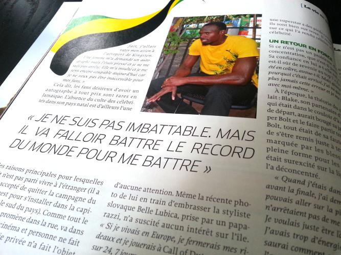 Article de Runner\\\\\\\'s World sur Usain Bolt, traduit de l\\\\\\\'anglais par Laura Orsal